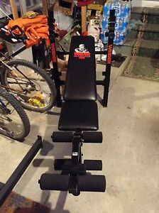 WEIDER BENCH PRESS with LEG WORK OUT ATTACHMENT