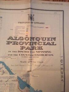 Old Maps of Algonquin Park & Ontario