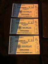 3 x Coldplay tickets 9th December 2016 (restricted view seating) Narre Warren Casey Area Preview