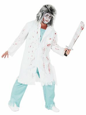 Zombie Doktor Arzt Kostüm für Erwachsene Halloween Horror Party grün Gr. M-XXXL