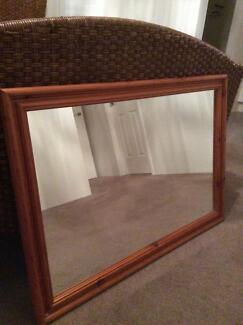 Wooden framed mirror Burns Beach Joondalup Area Preview