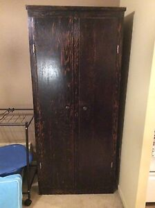 Real Wood Armoire Shelving Cabinet