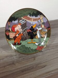 1992 limited looney tunes rabbit seasoning collector plate