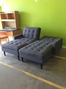 Grey Sectional with Ottoman at HFH ReStore