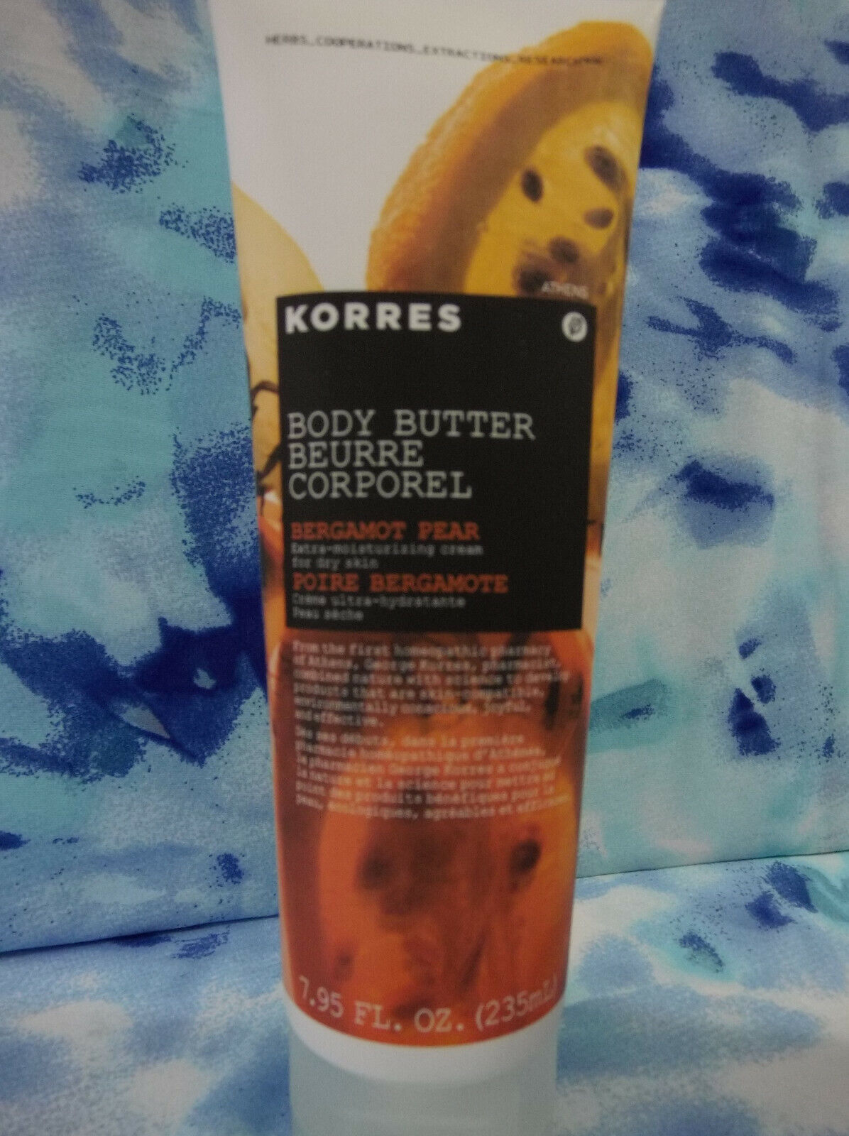 Korres Bergamot Pear Jumbo Body Butter 7.95oz Quince, Shea B