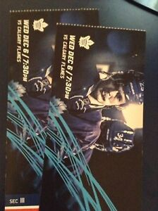 LEAFS TICKETS WEDS DEC 6TH *discounted face value!