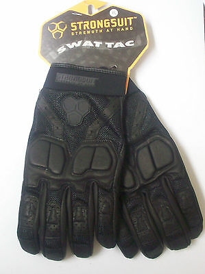Strongsuit Swat Tac Tactile Tactical Leather Work And Driving Gloves X-large