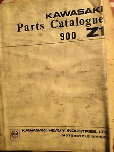 1972 Kawasaki Z Z1 900 Parts Catalogue