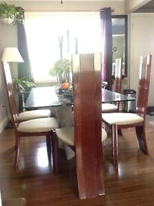 Lacquered mahogany chairs
