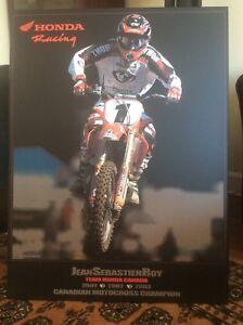 Motocross laminated poster