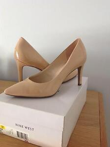 "Nine West ""Charly"" patent nude shoes - Size 8.5. Brisbane City Brisbane North West Preview"