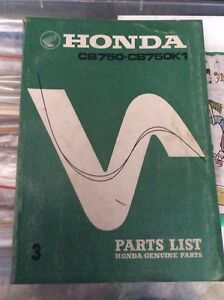 1969 1970 Honda CB750 Sandcast Parts List Book