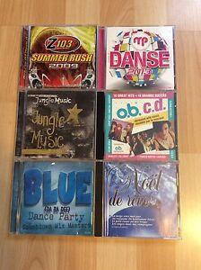 6 cd's musiques mixtes et Noël 5$ chaque