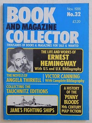 BOOK & MAGAZINE COLLECTOR #32 - 11/1986 - Ernest Hemingway, Jane's Ships