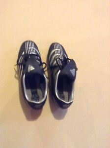 Adidas women soccer cleats / shoes - black silver
