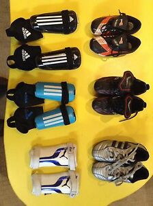 Various soccer cleats and shin guards(all shin guards SOLD)KIDS