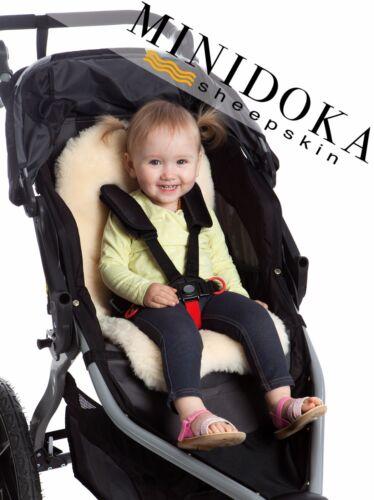 Minidoka Sheepskin, Pure Lambskin Stroller Liner, Universal Fit, Soft, Natural