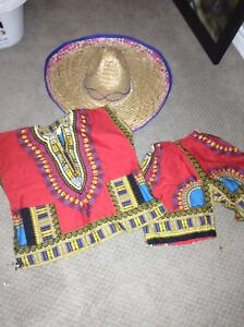 African or Mexican 2piece outfit/costume