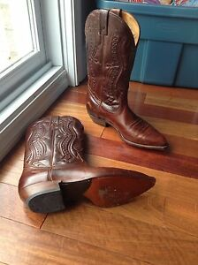 Boulet leather cowboy boots, size 9 women
