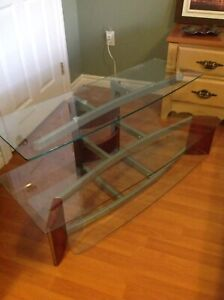 TV Stand with Glass Shelving - immaculate