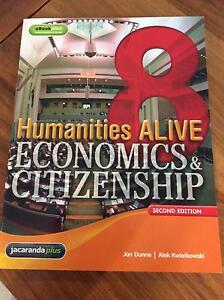 Humanities ALIVE Economics & Citizenship 8 second edition Jacana Hume Area Preview