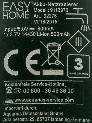 EASY HOME Akku/Netzrasierer Anleitungs-Fotoserie zur Demontage&Reparatur gebraucht kaufen  Erlangen