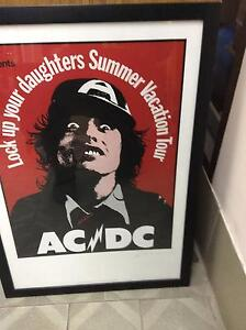 AC DC framed poster Carrum Kingston Area Preview