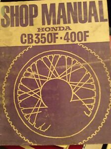 Honda CB350F CB400F Shop Manual