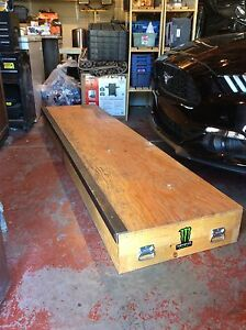 Solid wood 8 foot skate ledge