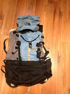 65 L North Face hiking trekking backpack
