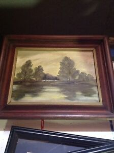 20 year old oil painting from Poland on wood frame