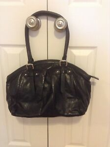 Black leather purse - Danier