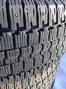 Winter studded tires. 215-70-15
