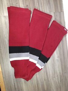 3 pair of preowned hockey socks