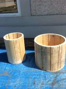 Nice SOLID wooden planters
