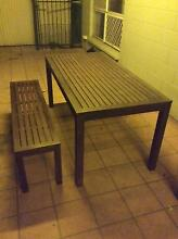 Outdoor Wooden Table and Bench Seat Darwin CBD Darwin City Preview