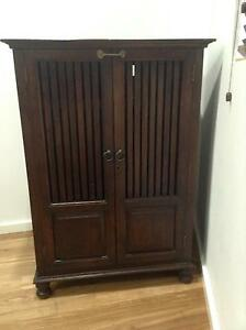Solid timber cabinet with foldable doors Petersham Marrickville Area Preview