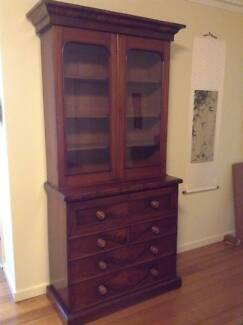Victorian mahogany 2 door, 4 drawer Secretaire Desk, fitted with