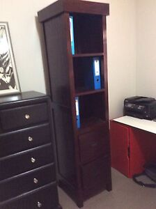 Solid Book Cabinet with two Drawers New Farm Brisbane North East Preview