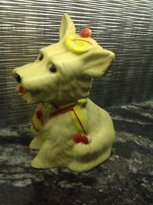 "VINTAGE "" RELIABLE ""  11 "" TALL SCOTTIE DOG BANK"