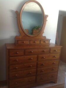 Maple Dresser and Chested Drawer