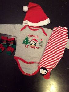 Santa's Lil' Helper Outfit, Hat and Socks
