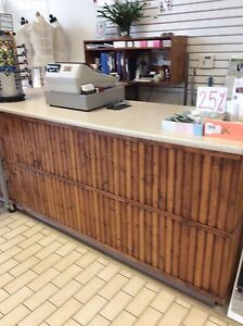 Retail store counter