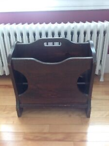 Antique Solid Wood Magazine Rack