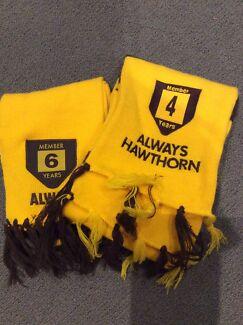 2 x Hawks member scarfs