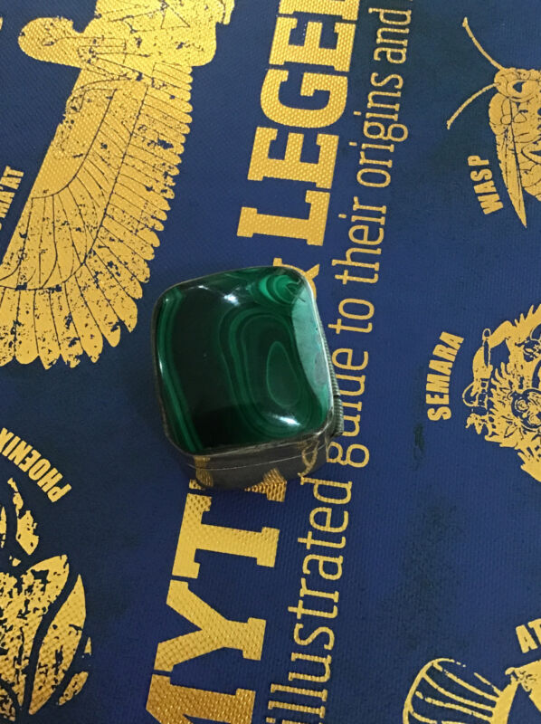 TAXCO MEXICO Sterling Silver SNUFF PILL BOX Vintage With Green Lapis Like Stone