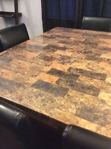 Marble top pub style table