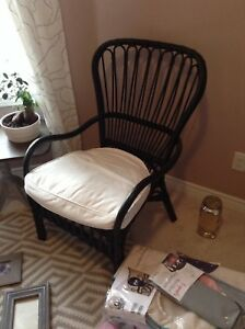 IKEA wicker chair with cushion