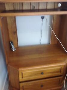 Blackwood TV Cabinet with drawers and shelf Newtown Geelong City Preview