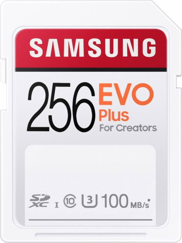 Samsung - EVO Plus SDXC Full size SD Card 256GB (MB-SC256H)